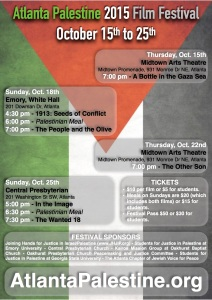 2015 Atlanta Palestine Film Festival - APFF2015 - Program